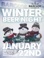 Winter Beer Night — January 22, 2015 at Barcade® in New York, NY