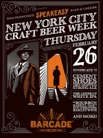 Speakeasy Ales and Lagers Night — February 26, 2015 at Barcade® in New York, NY