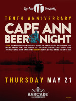 Cape Ann Brewing Night — May 21st, 2015 at Barcade® in New York, NY
