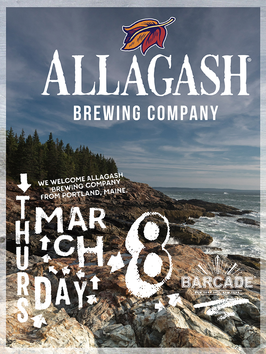 Allagash Brewing Co. Night — March 8, 2018 at Barcade® in New York, NY