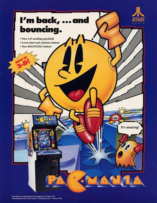 Pac-Mania — 1987 at Barcade® in New York, NY   arcade video game flyer graphic