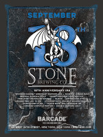 Stone Brewing Night — September 18, 2014 at Barcade® in New York, New York
