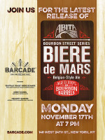 "Abita ""Buffalo Trace"" Biere de Mars Release - November 17th, 2014 at Barcade® in New York, NY"