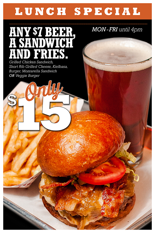 Barcade NY $15 Lunch Special M-F