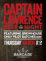 Captain Lawrence Brewing Night — March 12, 2015 at Barcade® in New York, NY