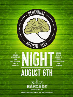 Perennial Artisan Ales Night — August 6, 2015 at Barcade® in New York, NY