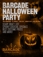 Barcade Halloween Party! on Saturday, October 31st at Barcade® in New York, New York