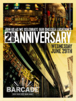 Barcade 2nd Anniversary — June 29, 2016 at New York, NY (Chelsea)