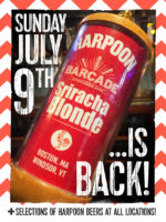 Harpoon Sriracha Blonde Exclusive Barcade® Beer Release — July 9, 2017 at Barcade® in New York, NY (Only Available at Barcade Locations)
