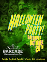 Barcade Halloween Party — October 28, 2017 at Barcade® in New York, NY | Spooky Tap List and music play list