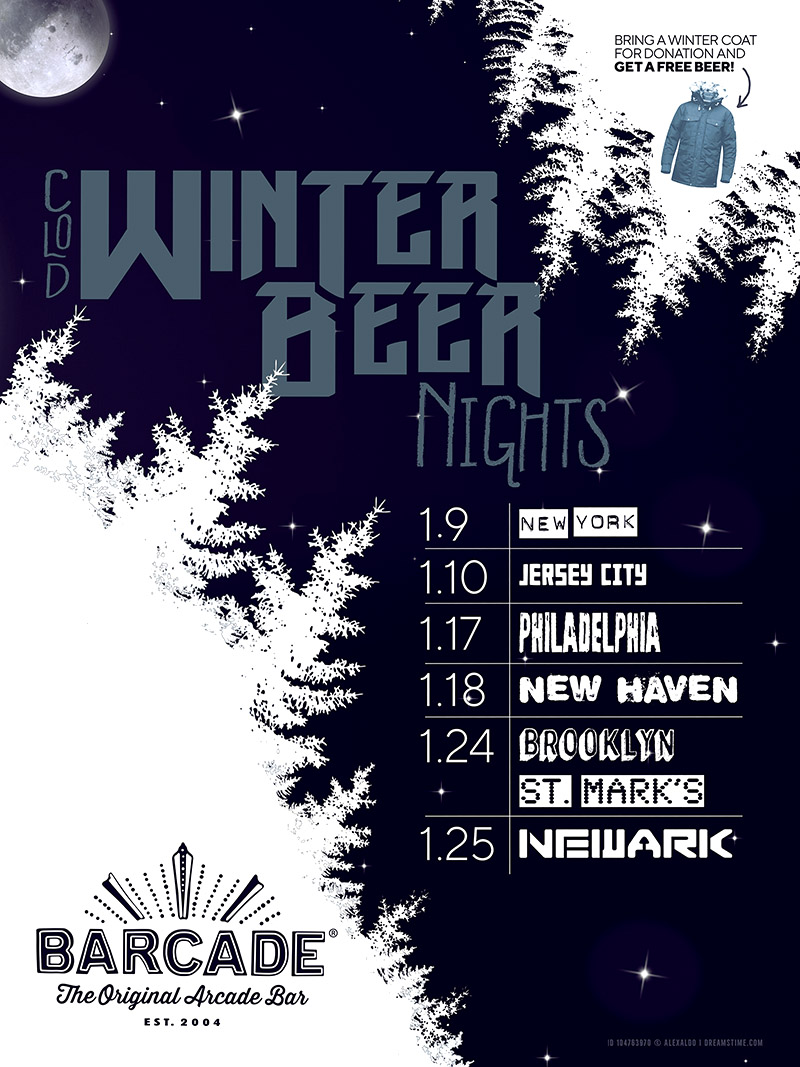 Winter Beer Night — January 9th, 2019 at Barcade in New York, New York