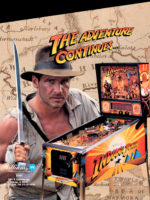 Indiana Jones (pinball) — 1993 at Barcade® in New York, NY | arcade game flyer graphic