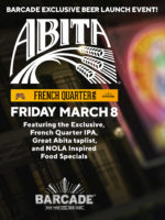 Barcade Abita Beer Launch — March 8th, 2019 at Barcade in New York, New York