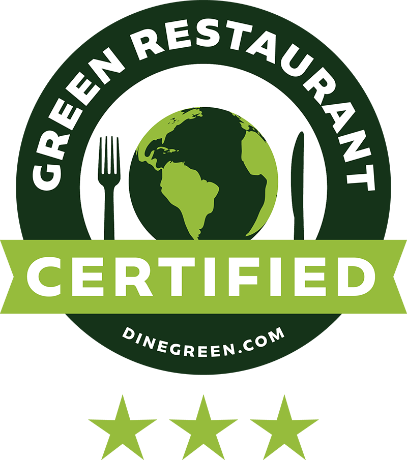 Barcade | Green Restaurant Association Certified Logo Three Star | Dinegreen.com