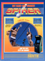 Spiker — 1986 at Barcade®in New York, NY | arcade video game flyer graphic