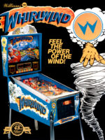 Whirlwind (pinball) — 1990 at Barcade®in New York, NY | arcade game flyer graphic